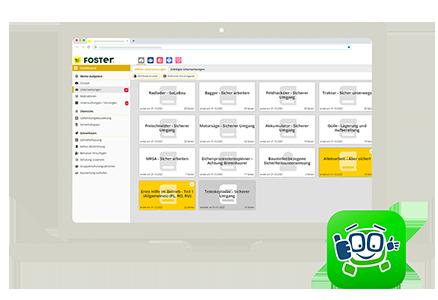 Foster App Startscreen